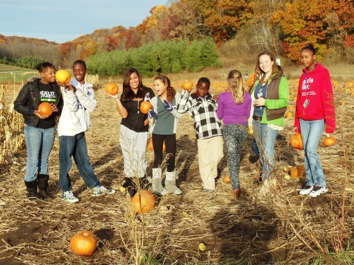 Goodman Community Center kids picking pumpkins last season.