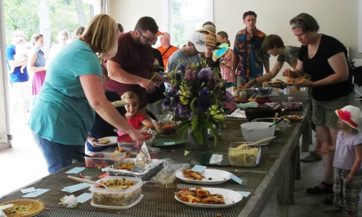 Yum. Each year everyone makes such fantastic dishes to pass, using lots of their fresh farm produce.