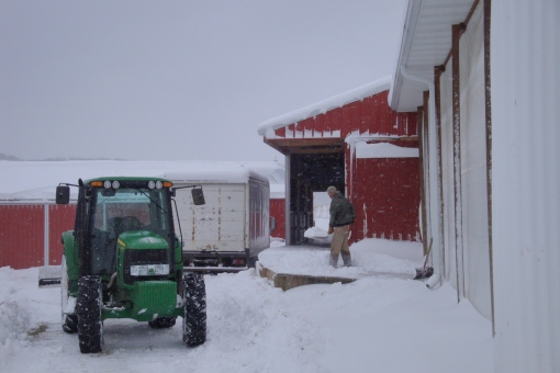 A 2009 storage share delivery preparation. We are thankful for 2015 weather!